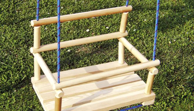 Návod: Dřevěná houpačka