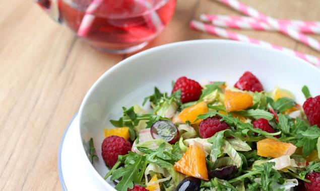 Jupí salát s malinovým octem