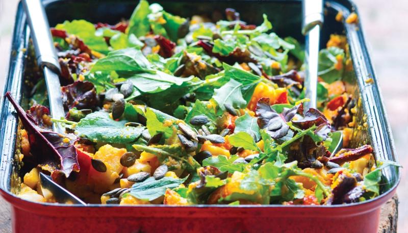 Podzimní salát s pečenou zeleninou
