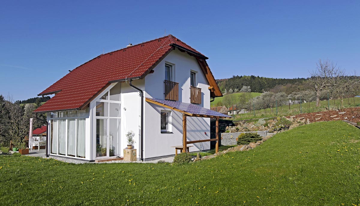 Dům se zimní zahradou - léto po celý rok