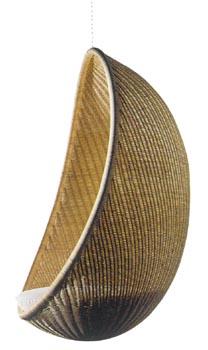 Ratanové závěsné křeslo vajíčko ikea