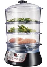Parní hrnec Philips HD 9140/91 pro zdravé vaření vpáře, 3 varné nádoby ocelkovém objemu 8,6l, www.euronics.cz