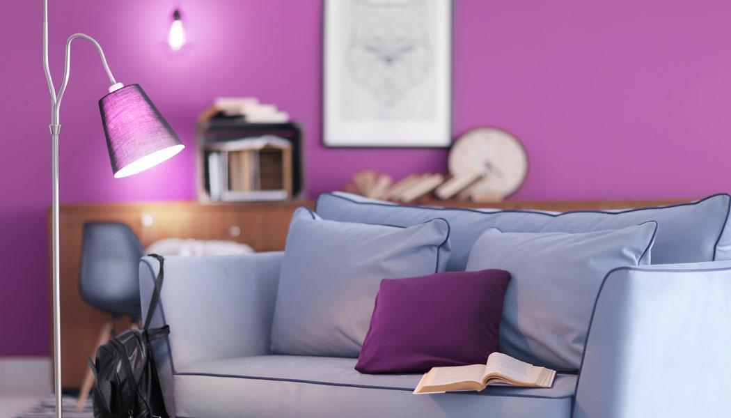 Barvy v interiéru: Magie fialové a zlaté