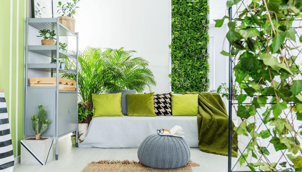 Barvy v interiéru: Povzbuzení v zelené