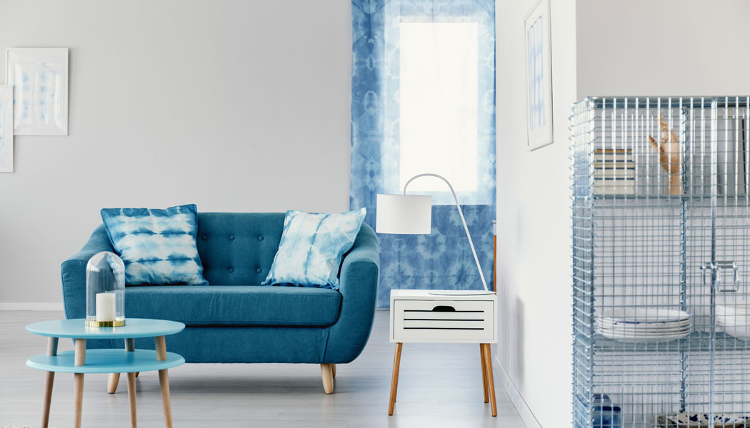 Několik tipů na interiér v modrém