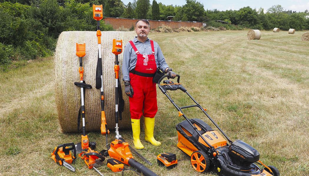 Test zahradního AKU systému aneb jeden zdroj pro 8 pracantů