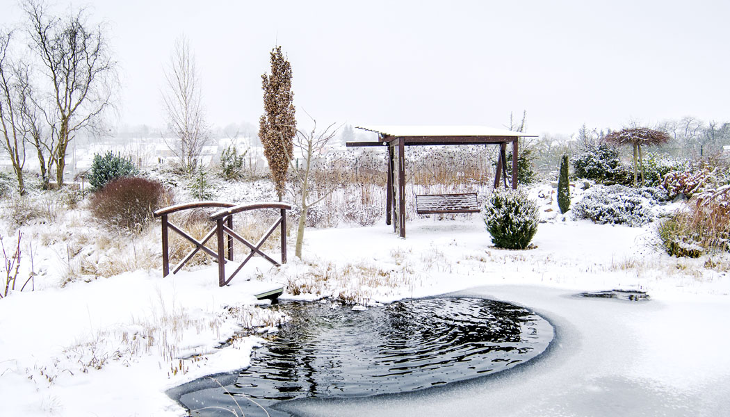 Zahrada v zimě jako dokonalá zóna klidu