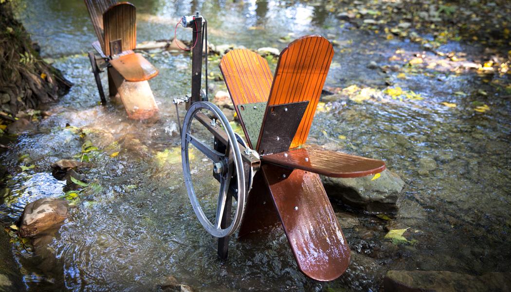 Keramoelektrárna – vodní mlýnek vyrobený z pálených cihel Tondach
