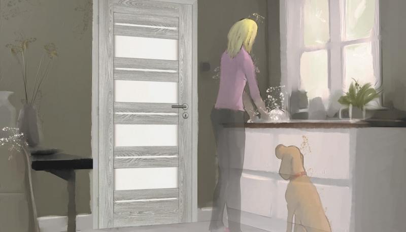 Interiérové dveře v odstínech šedé